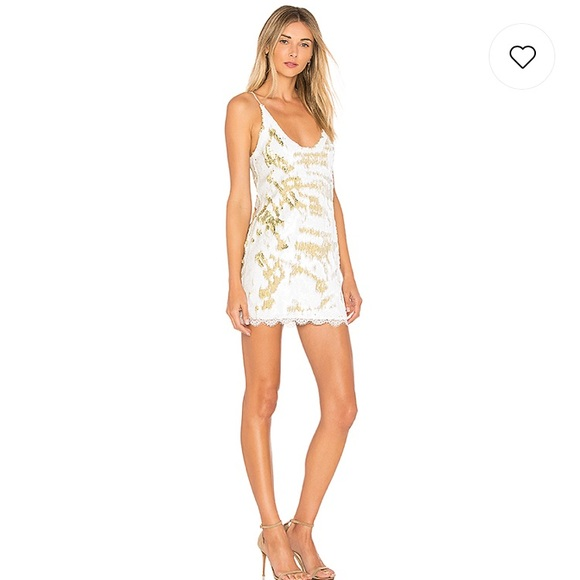 38c14227 Free People Dresses | Seeing Double Sequin Slip Dress In Ivory Small ...